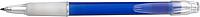 BANGO transparentní kuličkové pero, modré - psací potřeby