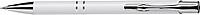NILES Kuličkové pero se stříbrným klipem, modrá náplň, bílé - psací potřeby