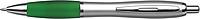 BANKER Kuličkové pero, stříbrné tělo, barevná rukojeť,zelené - psací potřeby