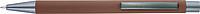 TEZIMIN Kuličkové pero s pogumovaným povrchem a modrou náplní, hnědé - psací potřeby