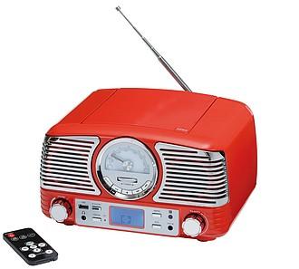 Retro rádio s CD přehrávačem