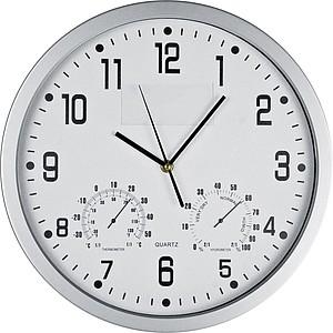 GASPRA Nástěnné hodiny s vlhkoměrem a teploměrem, bílé