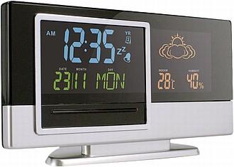 TYLER Stolní hodiny s budíkem, ukazatelem počasí, kalendářem