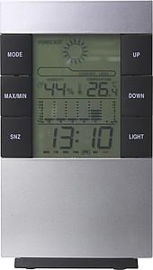 TISOT Stolní hodiny s kalendářem, teploměrem a ukazatelem počasí