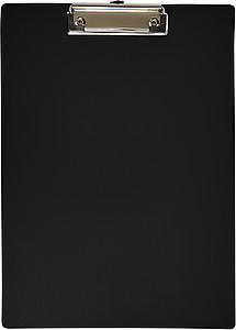 Plastová psací podložka s klipem, černá