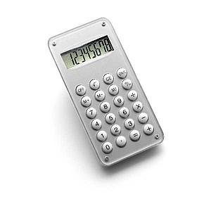 CALCUL Desetimístná kalkulačka s bludištěm na zadní straně, stříbrn