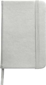 DEPUTY A6 Linkovaný blok se záložkou a gumičkou, 96 listů, stříbrný