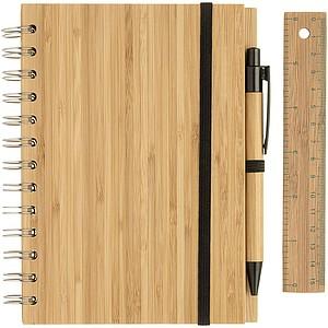 JULES Eko zápisník formátu A5 s perem a pravítkem, středně hnědá