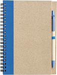 ADMINA Blok, linkovaný recykl.papír, 60listů, s KP, modrá náplň,modrý