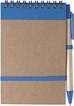 Linkovaný blok, 70 stran, s KP, modrá náplň, a gumička, modrý