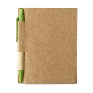 OWARIN Malý zápisník z recyklovaného papíru, zelený