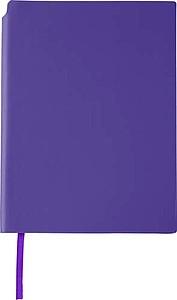 NAVARO Zápisník s místem pro tužku, záložkou a 80 linkovanými stranami, fialový