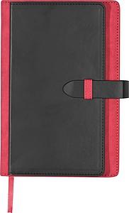 SMARTER Poznámkový blok A5 s kapsičkami na pero a vizitky, červený
