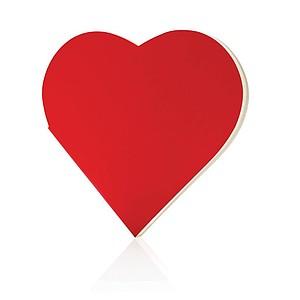 Zápisník ve tvaru srdce, červená