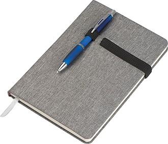 KASEL Čtverečkovaný zápisník velikosti A5 se záložkou a gumičkou