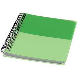 Barevný zápisník A6, středně zelená