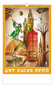 Art Naive 2021, nástěnný kalendář, prodloužená záda