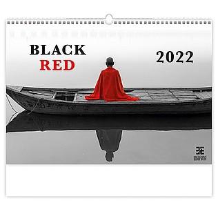 Black Red 2021, nástěnný kalendář, prodloužená záda
