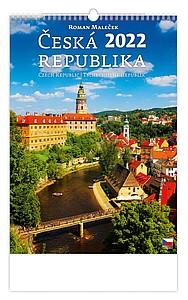 Česká republika 2021, nástěnný kalendář, prodloužená záda