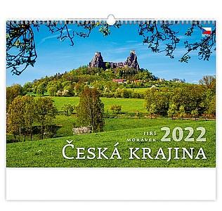 Česká krajina 2021, nástěnný kalendář, prodloužená záda