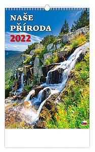 České hory 2021, nástěnný kalendář, prodloužená záda