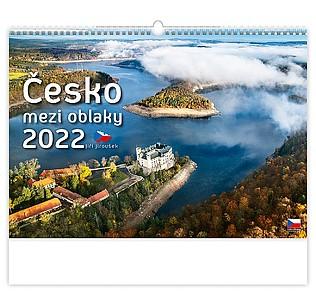 Česko mezi oblaky 2021, nástěnný kalendář, prodloužená záda