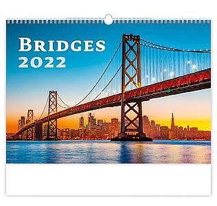 Bridges 2021, nástěnný kalendář, prodloužená záda