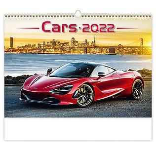 Cars 2021, nástěnný kalendář, prodloužená záda