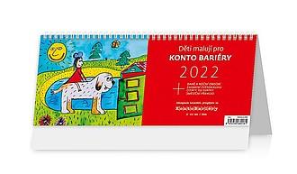 Děti malují pro Konto Bariéry 2021, stolní kalendář
