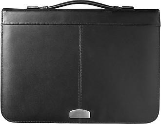 EMISAR konferenční desky A4 na zip, čtyřkroužkové