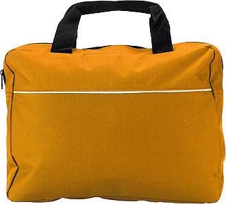 NASO Módní aktovka na dokumenty, oranžová