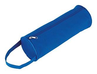 Kulaté pouzdro na tužky, modrá