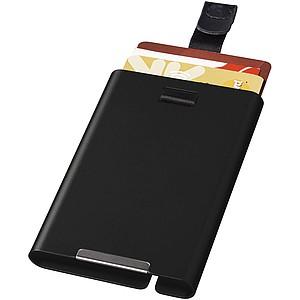 Pouzdro na karty s RFID, černá