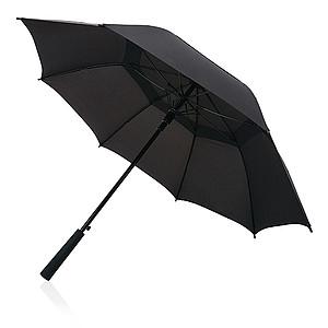 Automatický deštník Swiss Peak s dvojitým pláštěm, kovové tělo, černý