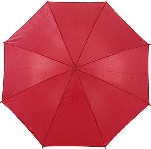 BOTTICELLI Vystřelovací deštník s barevným držadlem, červený, rozměry 100 x 84 cm - pláštěnky
