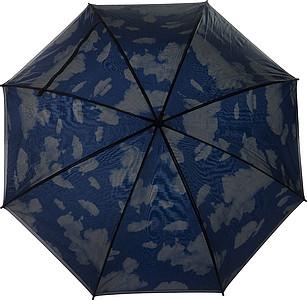 LIMBURK Dvouvrstvý deštník, černo modrý, obloha s mraky, rozměry 100 x 87 cm