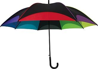SETUBAL Automatický deštník XXL v barvách duhy - pláštěnky