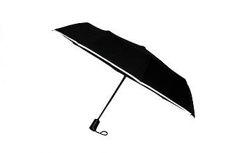 SCHWARZWOLF CRUX - skládací deštník s reflexním páskem a karabinou - reklamní čepice
