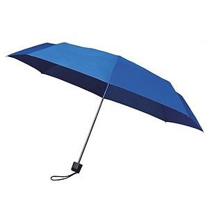 MUNCH Skládací deštník s černou konstrukcí, královská modrá - reklamní deštníky