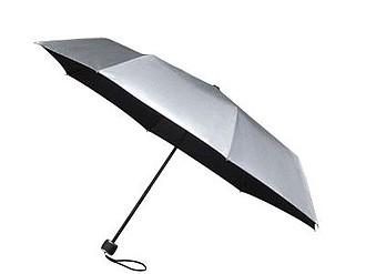 GRANADOS Skládací deštník, stříbrná, černý vnitřek - pláštěnky