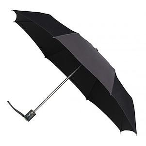 UMBERTO Skládací deštník se systémem open-close, černá - pláštěnky