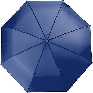 Teleskopický dámský deštník v obalu, rozměry 84 x 55 cm, modrý - pláštěnky
