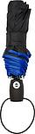KALAM Skládací Automatický deštník (190T), větruvzdorný, rozměry 90 x 55 cm, modrý - pláštěnky