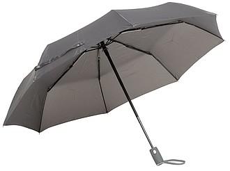 BURIAN Automatický open/close skládací deštník, pr. 101cm, šedá