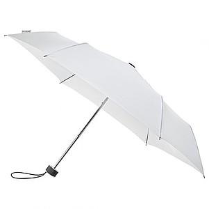 BESIR Skládací ultra lehký deštník s odlehčenou konstrukcí, bílá