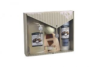 SALDANA Dárková kazeta kosmetiky s vůní bambuckého másla ručníky s potiskem