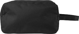Kosmetická taška, 600d polyester, dvě přihrádky na zip