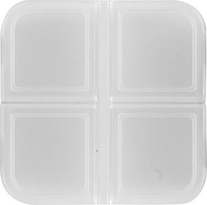 KLINIK Krabička na pilulky čtvercová se 4 boxy, transp. ručníky s potiskem