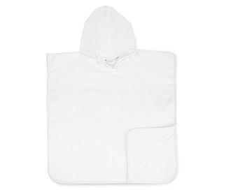 Dětské ručníkové pončo 450 gr/m2 bílá