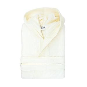 BARCELOSA Sametový župan s kapucí 450 gr/m2, krémová, L/XL
